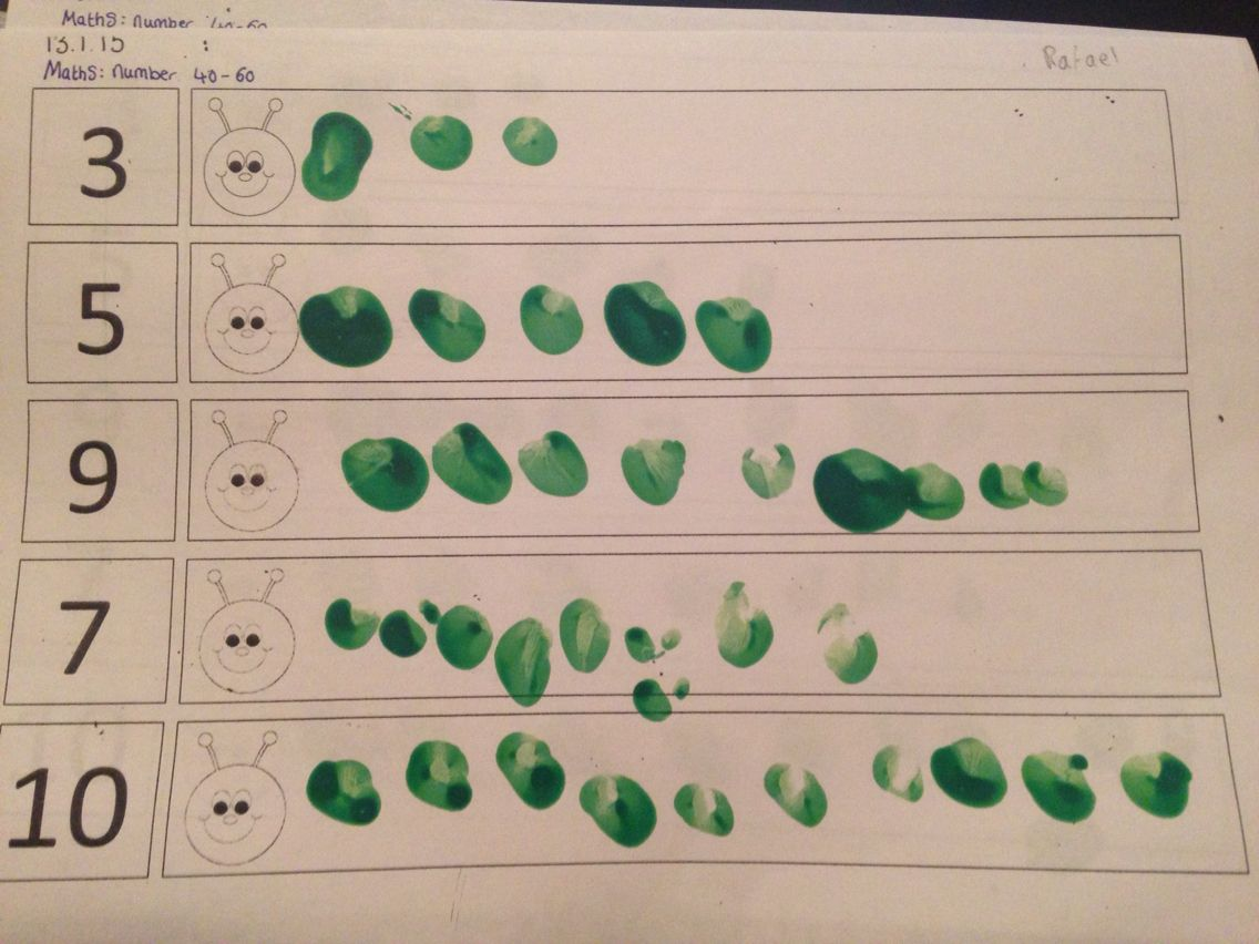 Hungry Caterpillar Number Recognition Activity