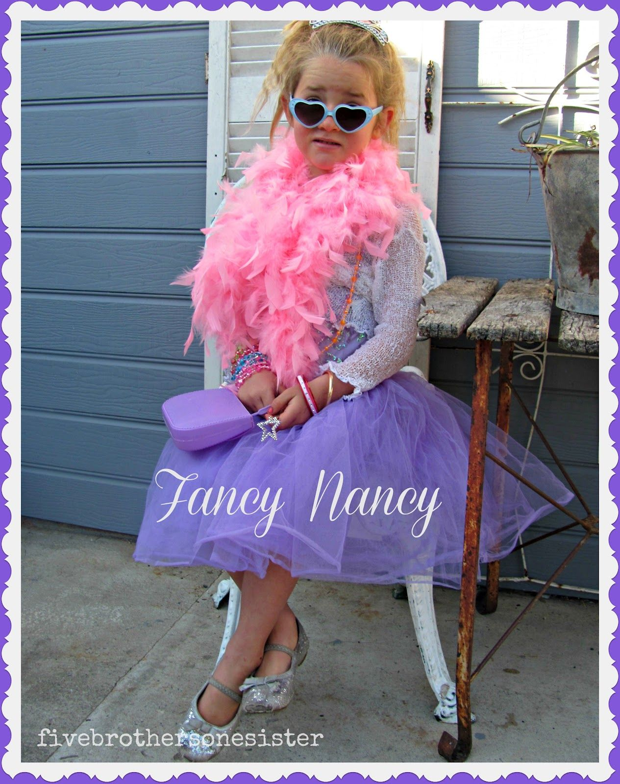 Fancy Nancy costume - five brothers one sister: book week characters #characterdayspiritweek