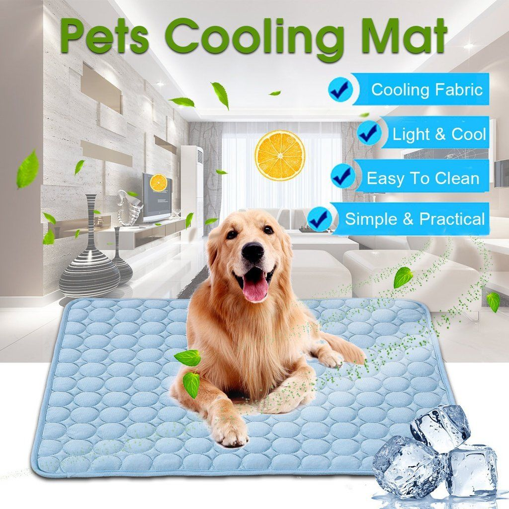 Indoor Summer Chilly Mat Cooling Pet Dog Cat Bed Cool Gel Pad
