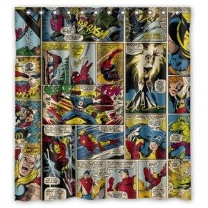 The Avengers Shower Curtain Con Imagenes Cosas De Casa Avengers Cortinas