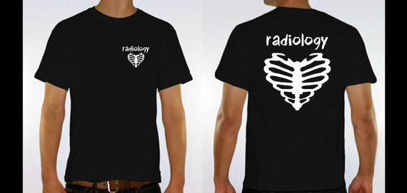 Radiology Heart N Bones T Shirt Xray Marker Accessories