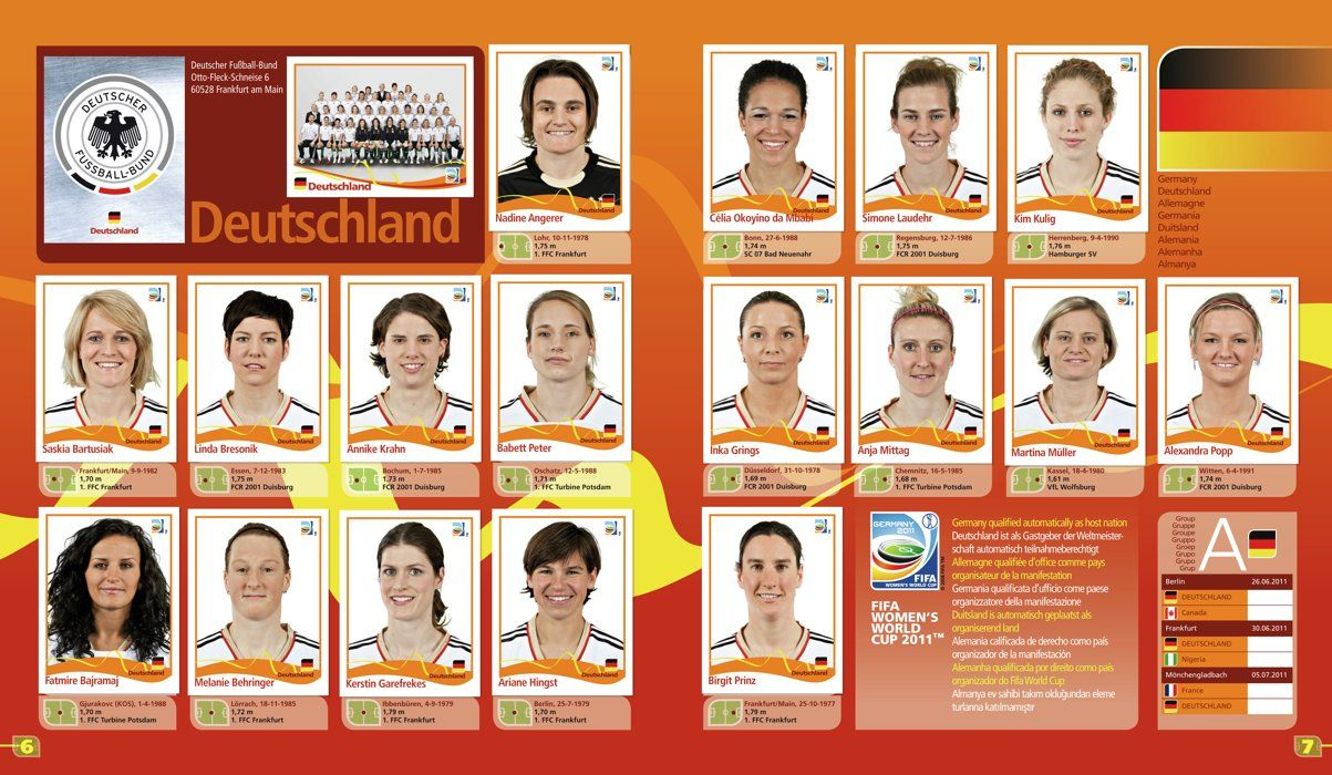 Panini and FIFA are proud to announce the launch of a sticker album to celebrate the FIFA Women's World Cup Canada 2015. Description from fifa.com. I searched for this on bing.com/images