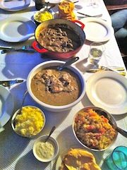 An Indian banquet with family + a recipe to cook Goat Dopiaza. So very tasty!