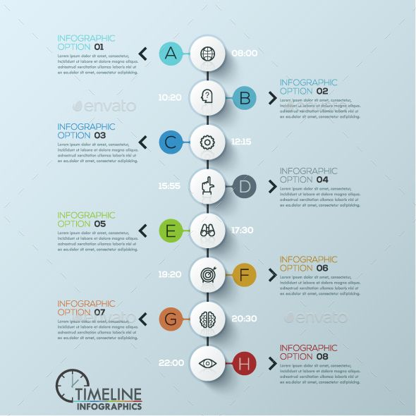Modern Infographic Timeline Template PSD, Vector EPS, AI. Download here: http://graphicriver.net/item/modern-infographic-timeline-template/15537951?ref=ksioks