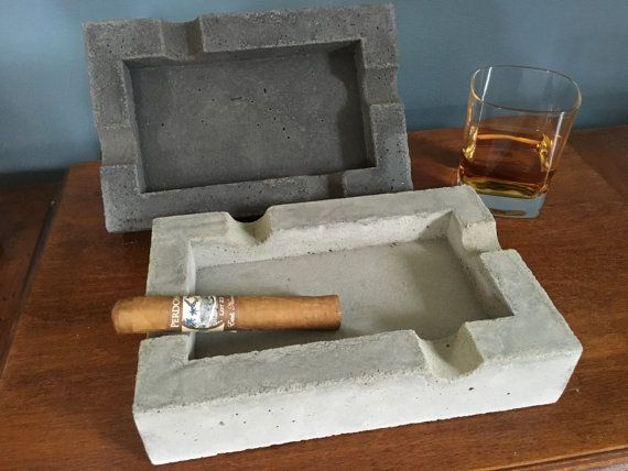 Handmade Concrete Cigar Ashtray Concrete Ashtray Cigar Ashtray Gifts For Men Gifts Anniversary Gift Birthday Gifts Groomsmen Gifts With Images Cigar Ashtray Ashtray Cigars