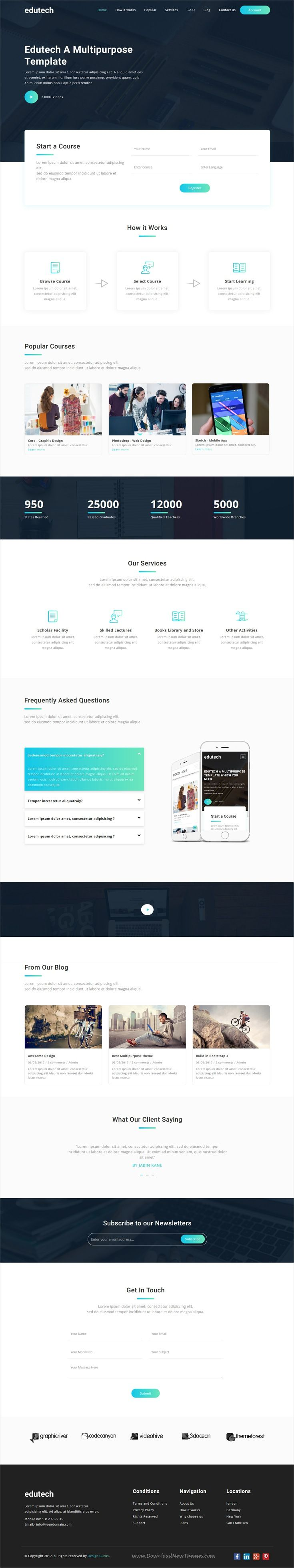 Edutech - Bootstrap 3 MultiPurpose Responsive Template For Everything