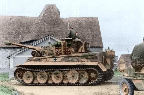Tiger I in action.