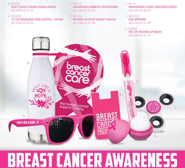 October is BREAST CANCER awareness month and we have many items to help you  show your