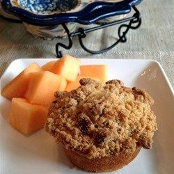 Cantaloupe Muffins with Praline Topping - Allrecipes.com