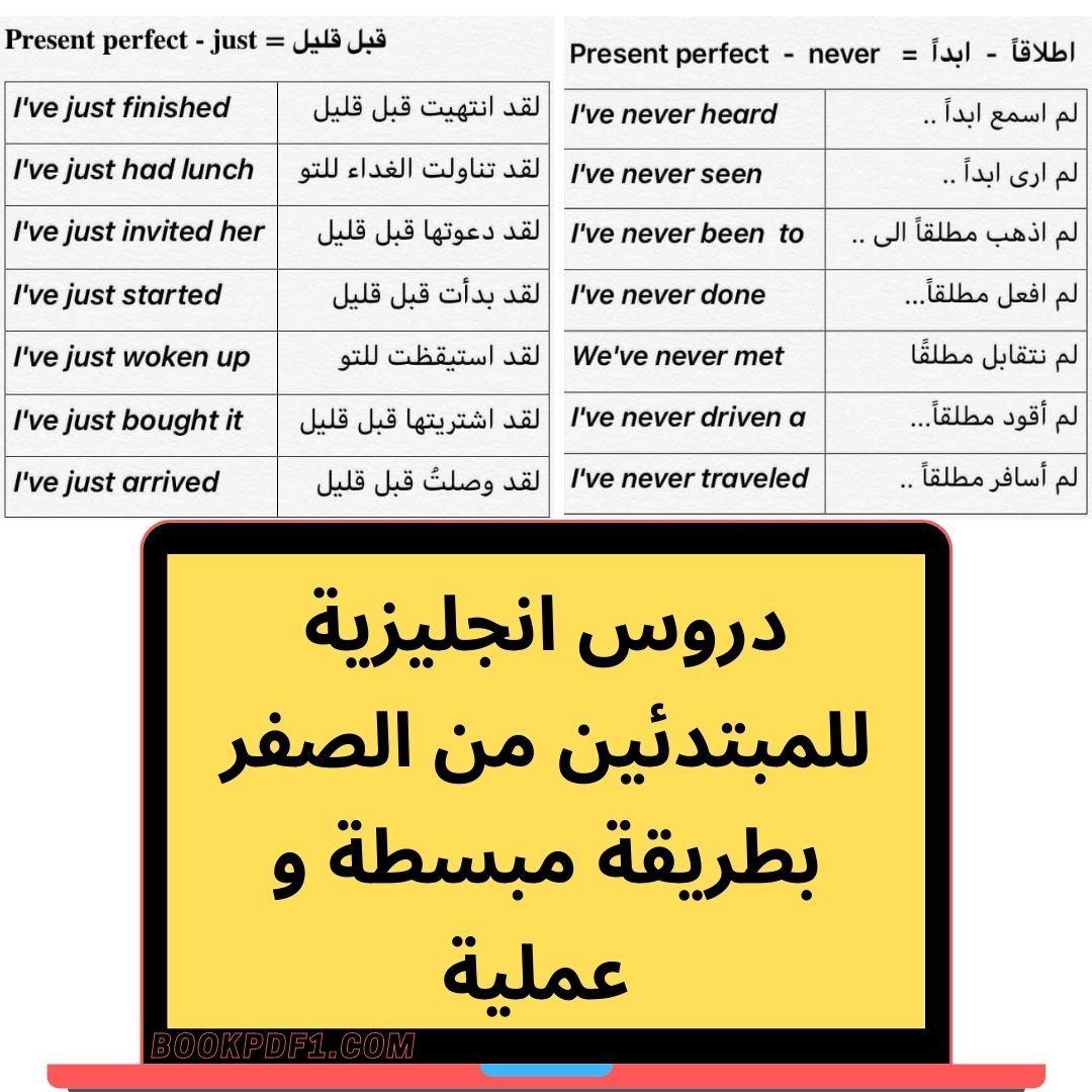 دروس انجليزية للمبتدئين من الصفر بطريقة مبسطة و عملية Present Perfect Invitations It Is Finished