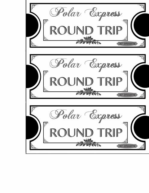 Polar Express Tickets Printables With Images Polar Express