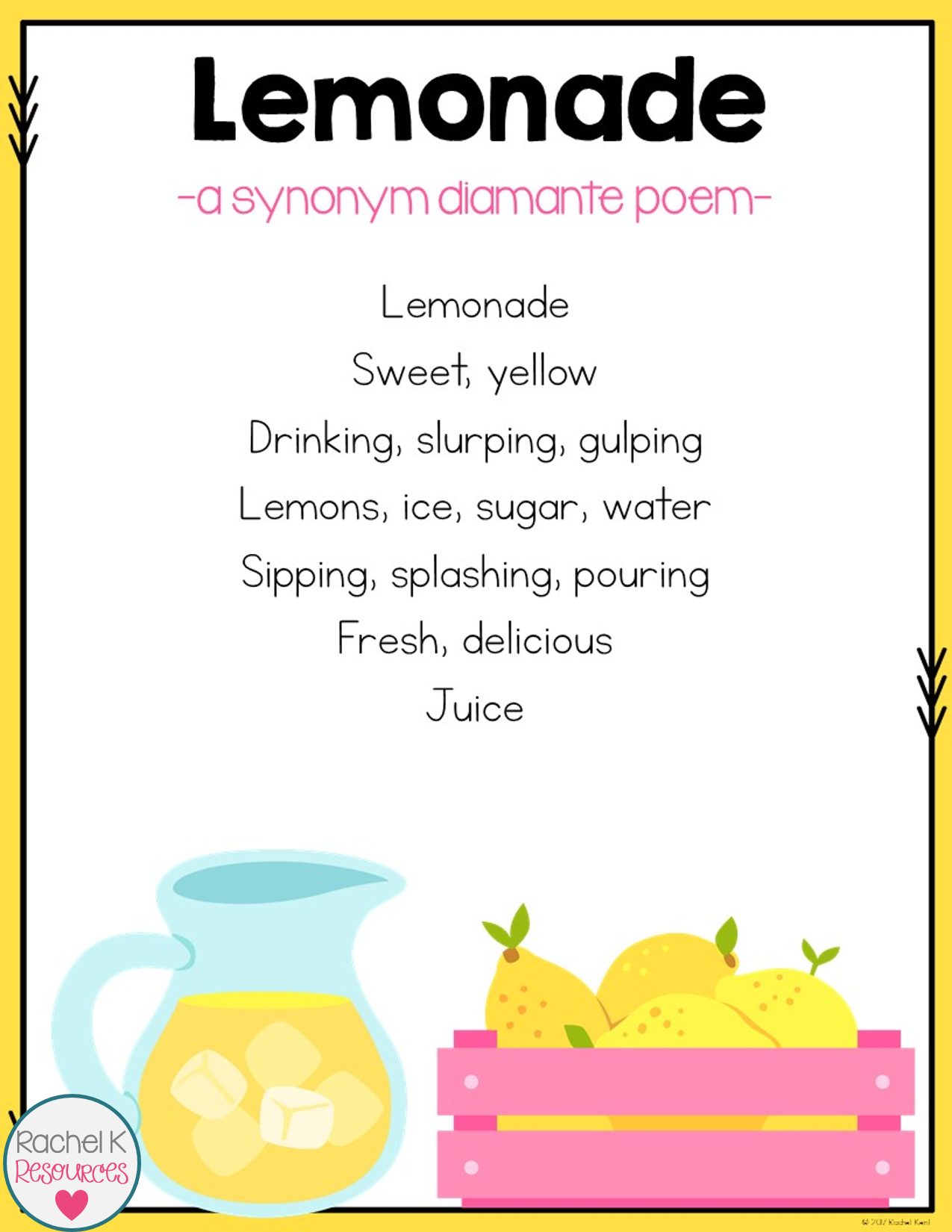 cinquain poems for kids pdf