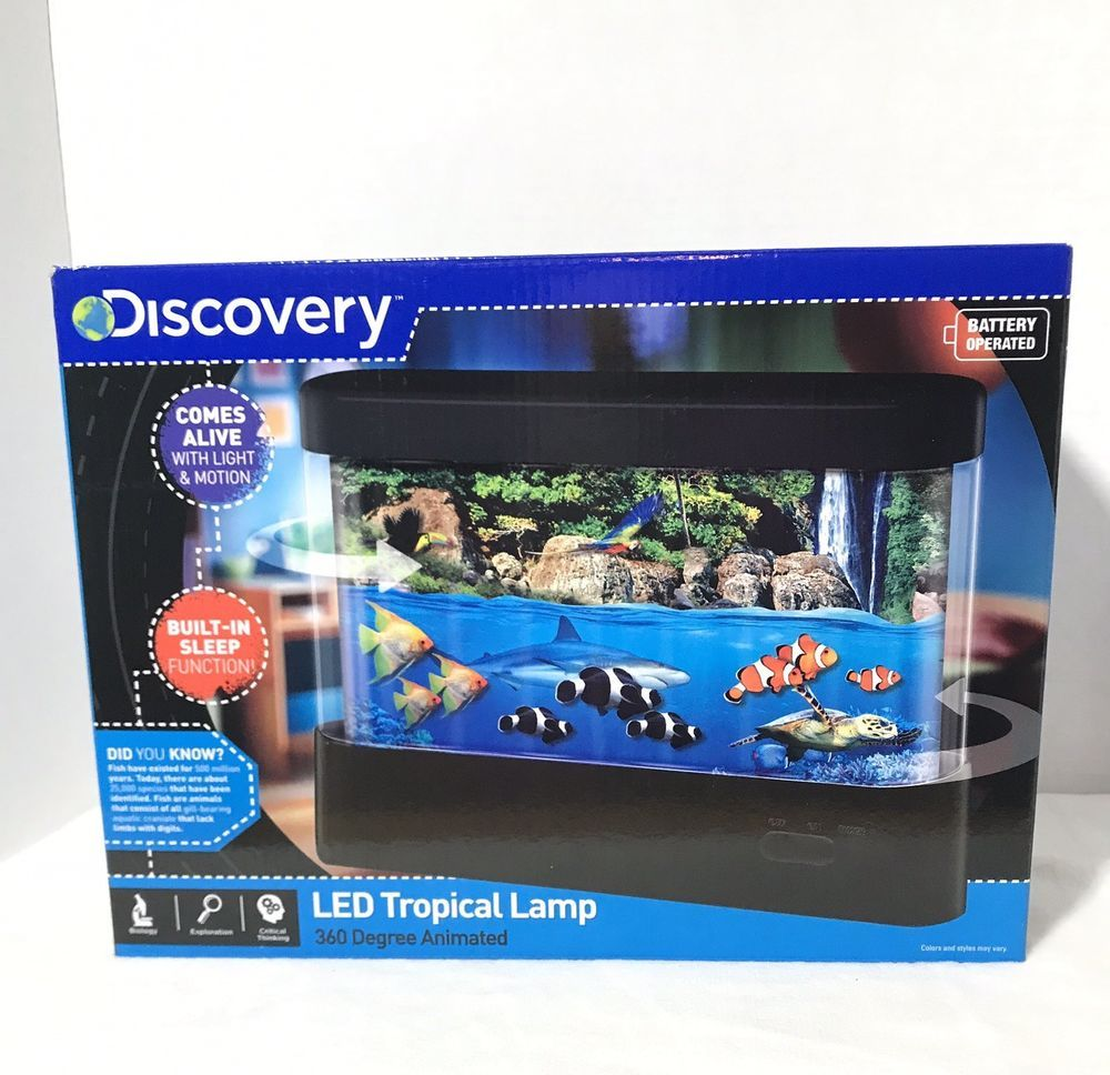 Discovery Kids 360 Degree Battery Led Marine Aquarium Fish Lamp Night Light 694202327678 Ebay Tropical Lamp Fish Lamp Lamps For Sale