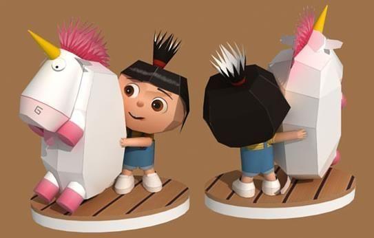Despicable Me 2 Agnes Papierspielzeug. Kostenlose