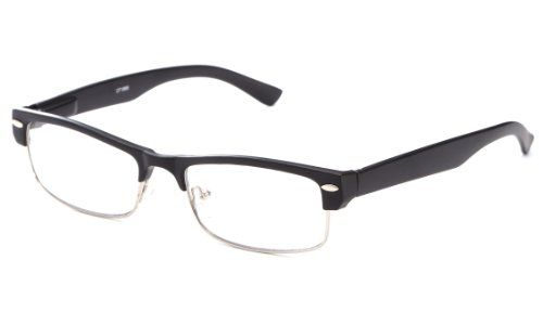 Slick Half Frame Slim Spring Temple Reading Glasses by IG in Matte Black ** You can get more details by clicking on the image.Note:It is affiliate link to Amazon.