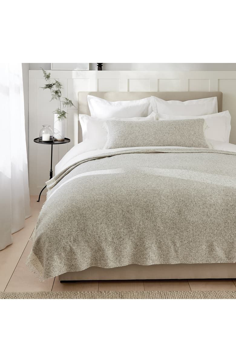 This STORM GREY Pelham Throw from THE WHITE COMPANY is a ...