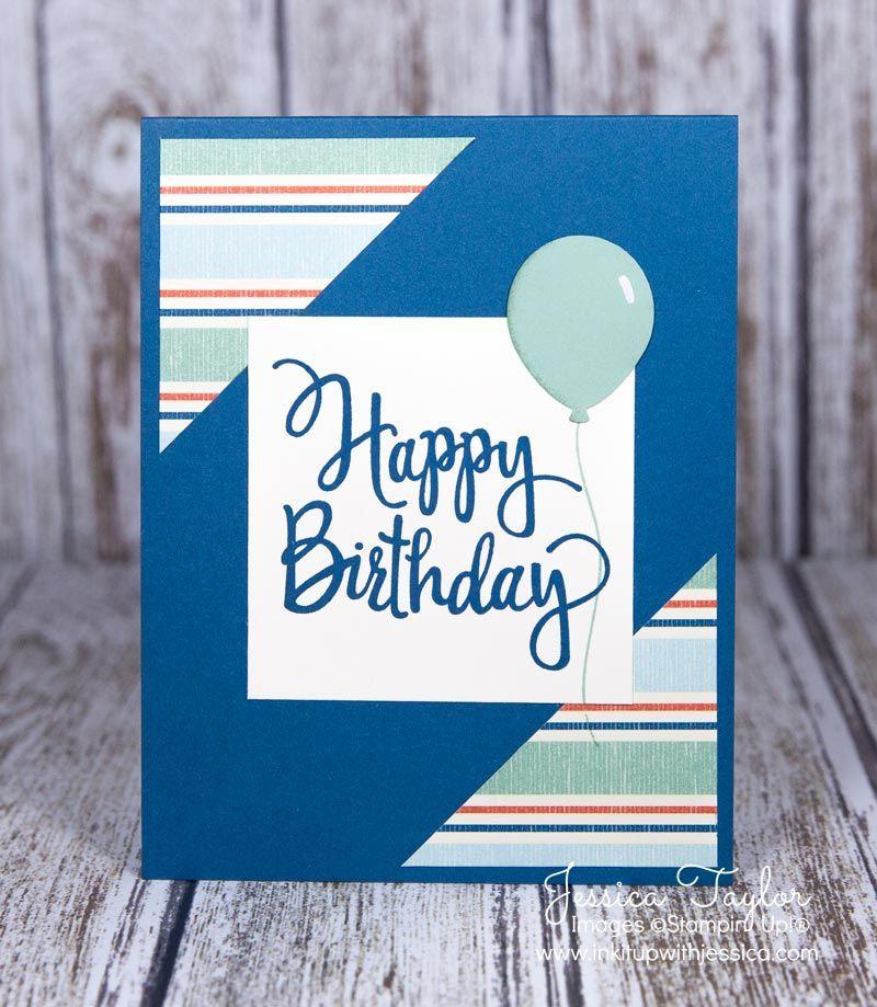 Stylized Birthday Card Birthday Cards For Men Birthday Cards Diy Birthday Cards
