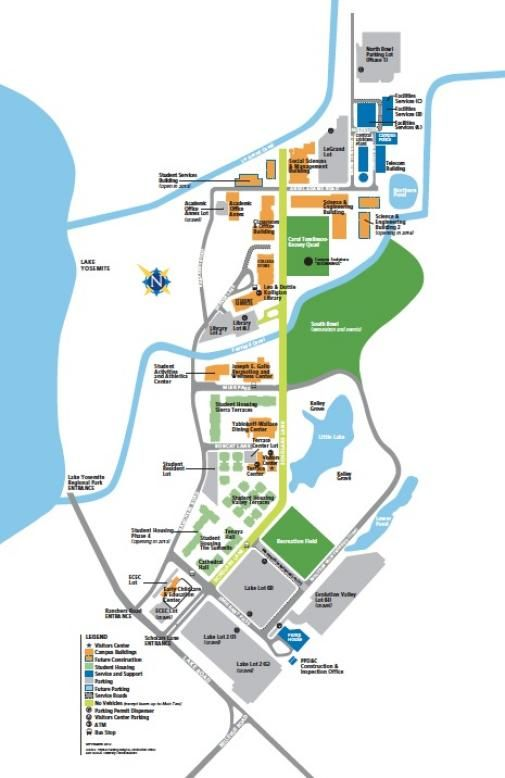 A Map Of The Uc Merced Campus Campusmap Ucmerced Admissions Info
