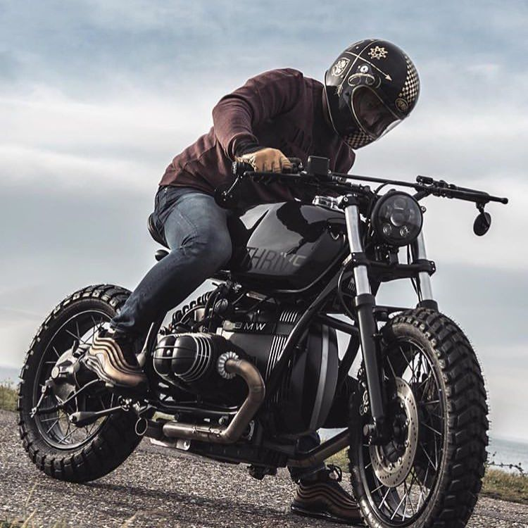 Bmw R100 R80 Scrambler Motorcycle Rider Caferacer Bikelife