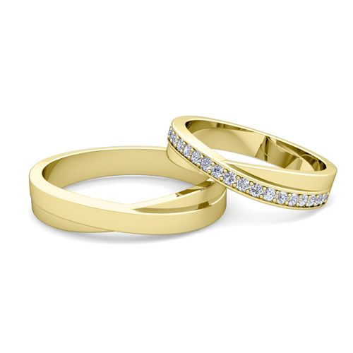 Matching Yellow Gold Wedding Bands His And Hers Google Search