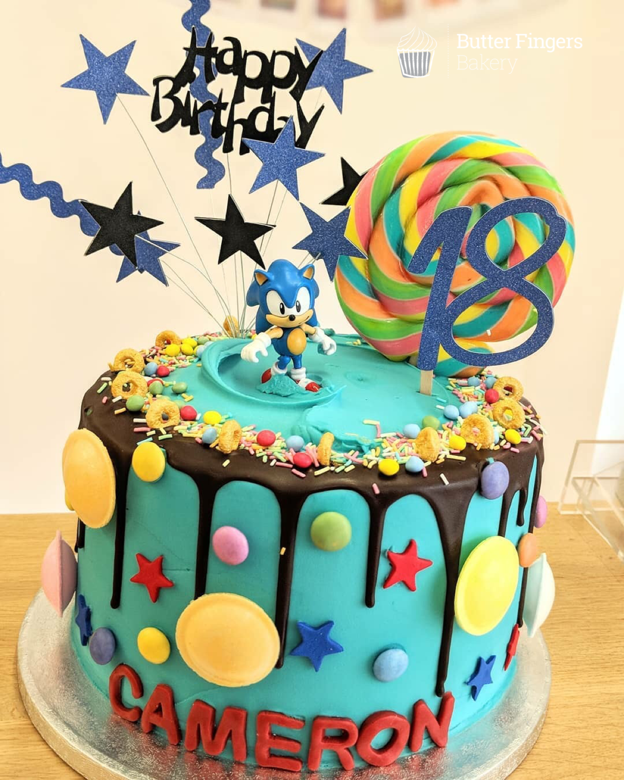 Butter Fingers Bakery Tasty Homemade Cakes Baked Freshly In Matlock Sonic Birthday Cake Sonic Cake Sonic The Hedgehog Cake