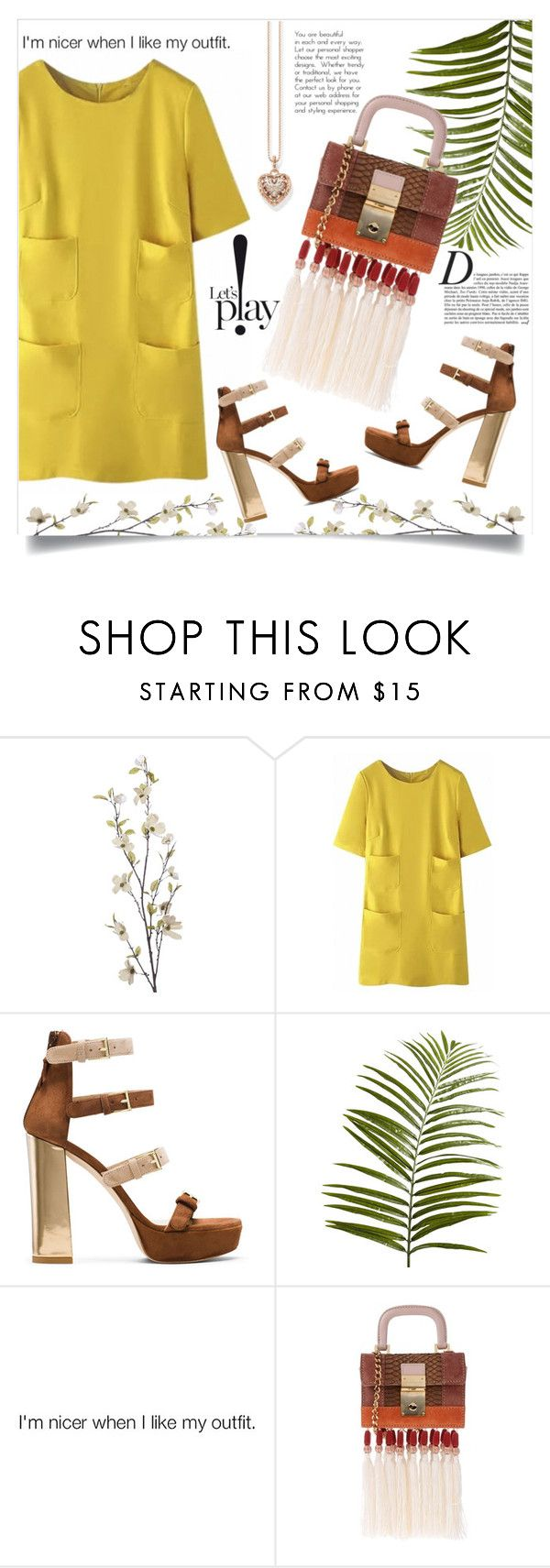 """""""Spring '16"""" by anchilly23 ❤ liked on Polyvore featuring Pier 1 Imports, WithChic, Stuart Weitzman, Dsquared2, Anja and Thomas Sabo"""