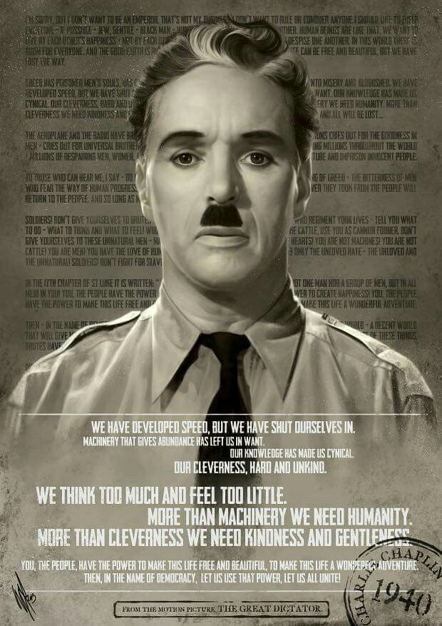 The Great Dictator Charlie Chaplin Chaplin Charles Spencer Chaplin