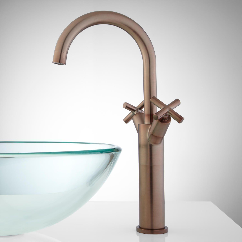 Aviston Single-Hole Vessel Faucet with Pop-Up Drain | Vessel ...