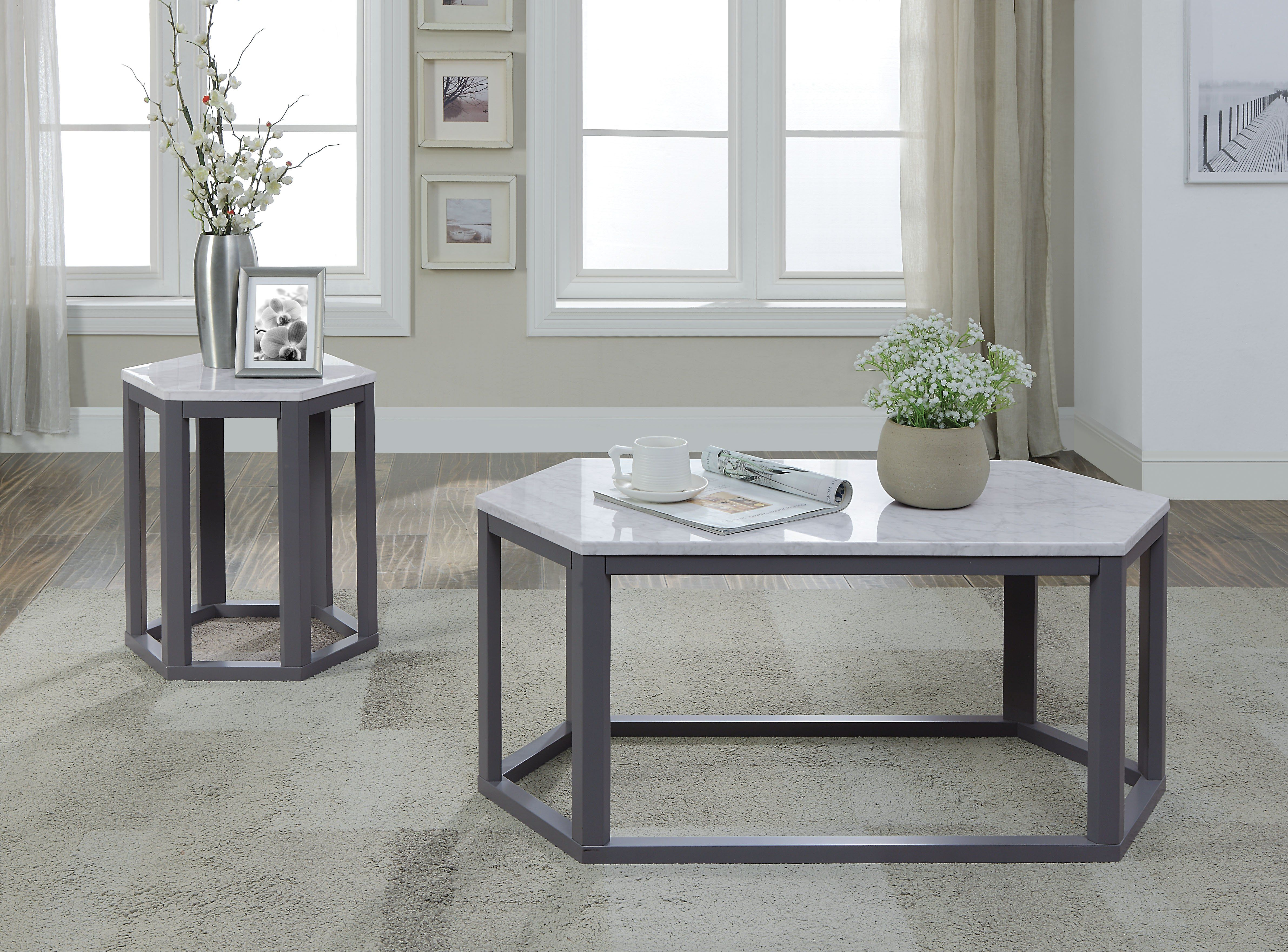 Reon Marble Gray Coffee Table In 2021 Coffee Table 3 Piece Coffee Table Set Wooden Coffee Table [ 3522 x 4764 Pixel ]