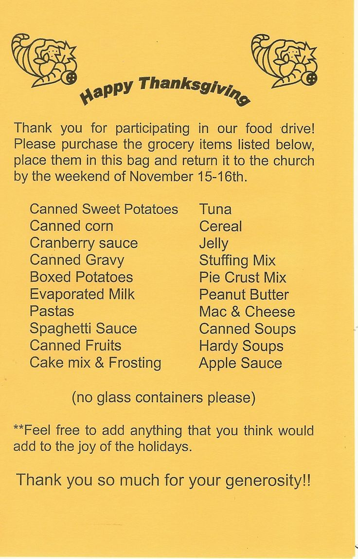Thanksgiving Food Drive, Drive Food Thanksgiving