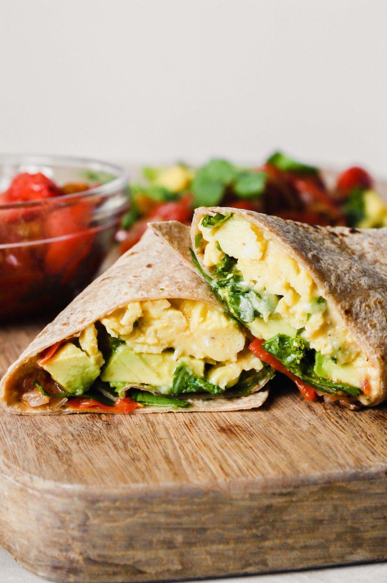 Easy Vegetarian Breakfast Burritos Recipe Healthy Vegetarian Breakfast Vegetarian Recipes Easy Vegetarian Breakfast