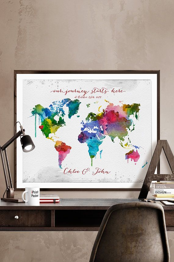 Custom world map personalised world map wedding guest book world wedding map wedding gift wedding guestbook by iprintposter on etsy gumiabroncs Choice Image