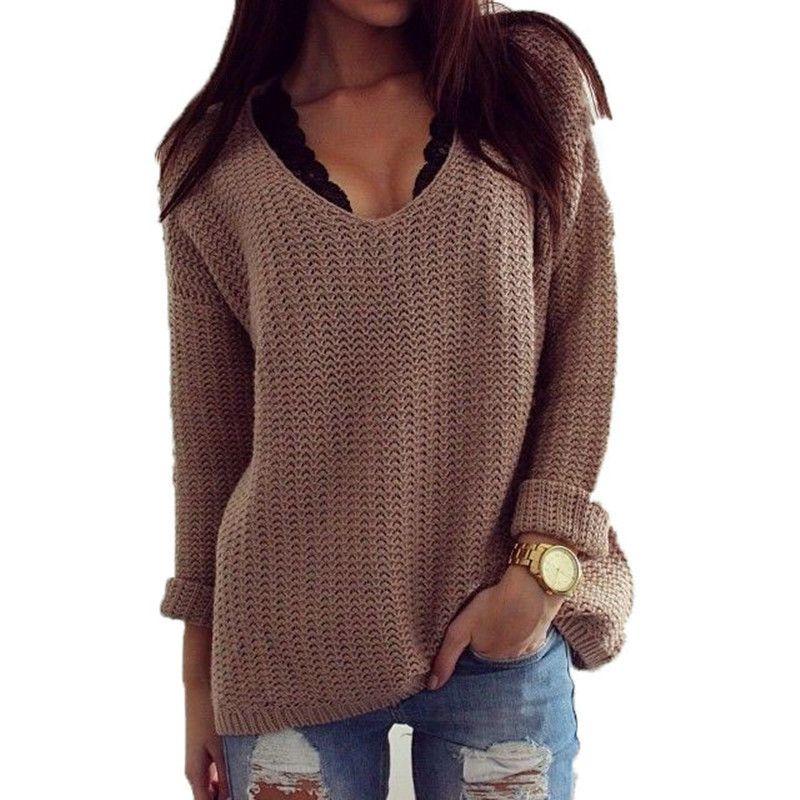 Вязаный женский свитер (101 фото): крупной вязки, модели ...