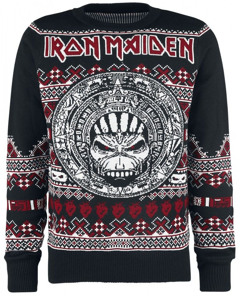 iron maiden christmas holiday sweater 2017