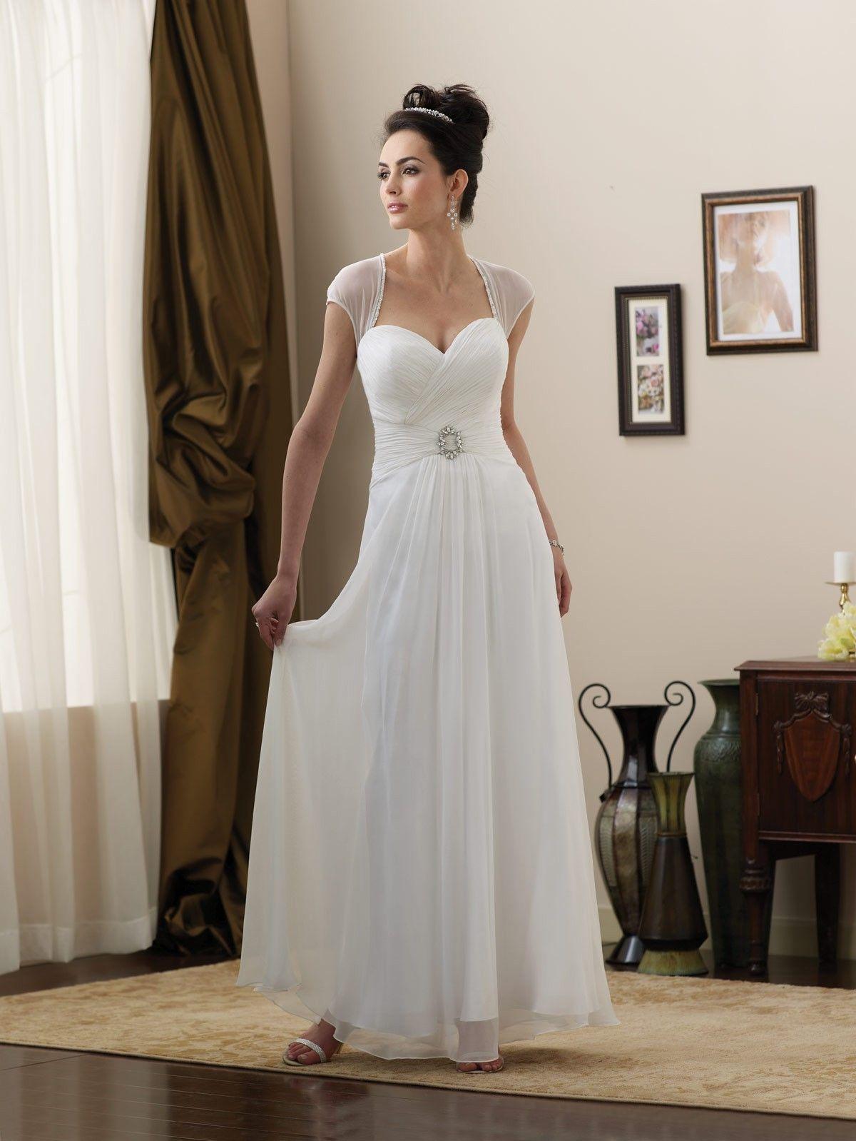 Sweetheart Floorlength Aline Chiffon Wedding Dress