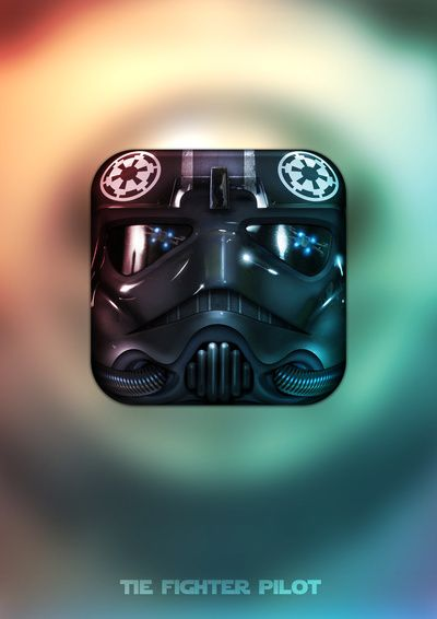 Star Wars iOS icon collection by Michael Flarup TIE