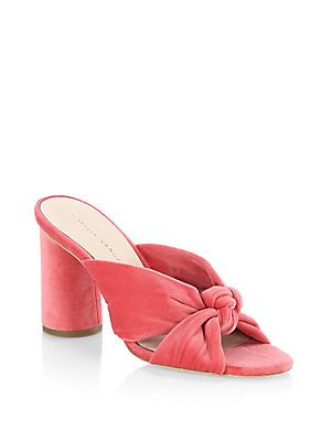 95666916f93 Loeffler Randall Coco Knotted Velvet Block Heel Mules | Sexy Mules ...
