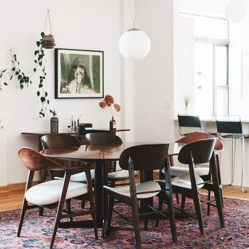 Perfect Tour A Stylish Chicago Space With Greenery Galore. Dining Room ...