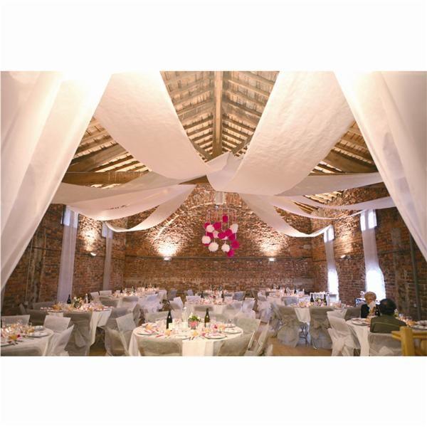 Tela deco techos paredes blanca ideas boda rancho - Como decorar techos ...