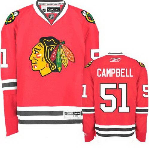 48ed74d4f76 ... clearance chicago blackhawks 51 brian campbell home jersey red chicago  blackhawks hockey jerseys 224 39e41 76f80