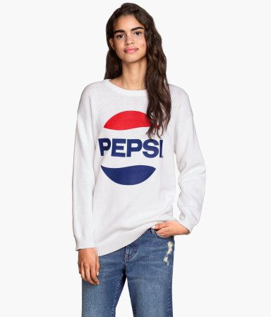 White Who For Sweater amp;m Oversized Young Those │ Think Pepsi H qrRSxq