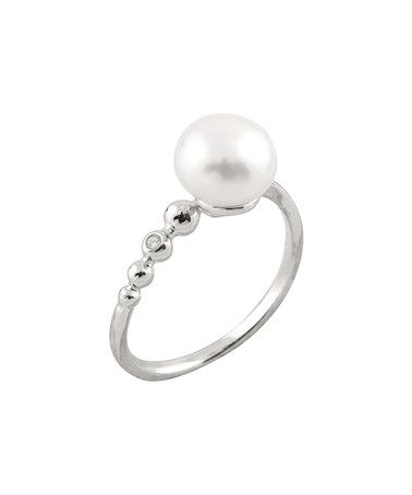 Another great find on #zulily! Pearl & Cubic Zirconia Ball Ring #zulilyfinds
