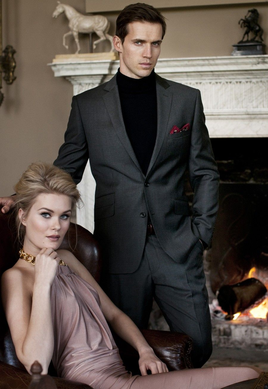 Brook Taverner - Charcoal Stokesay Suit http://www.weddingheart.co.uk/brook-taverner---mens-suits-and-waistcoats.html
