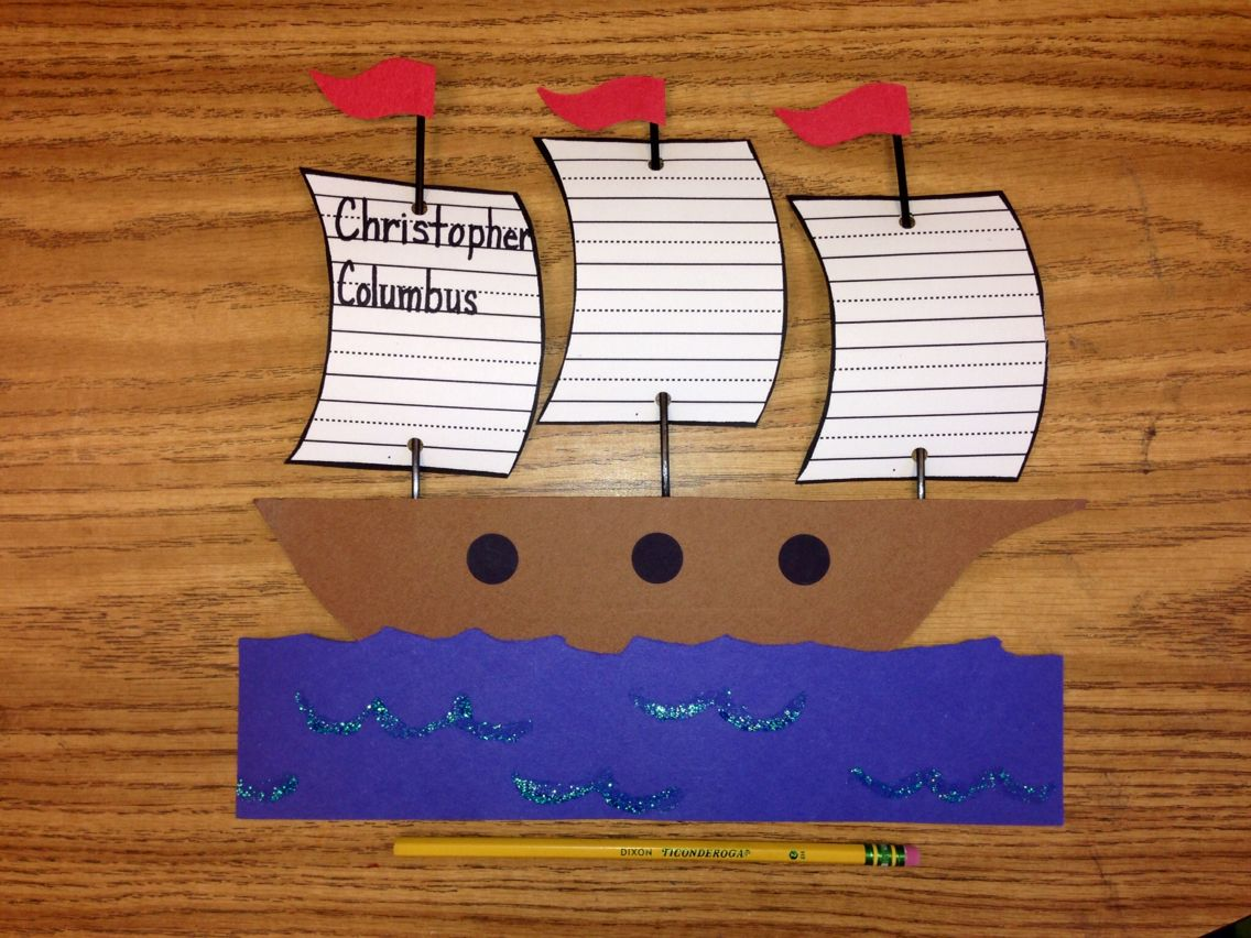 Christopher Columbus Craft Project Students Write 1 Fact