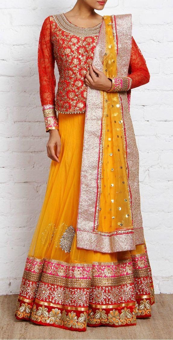 Latest Wedding Bridal Sharara Collection 2015-2016 | StylesGap.com