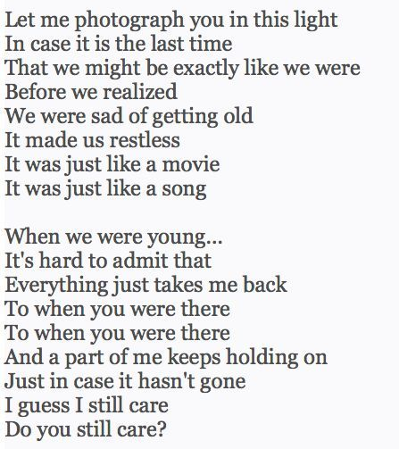 we were that song by
