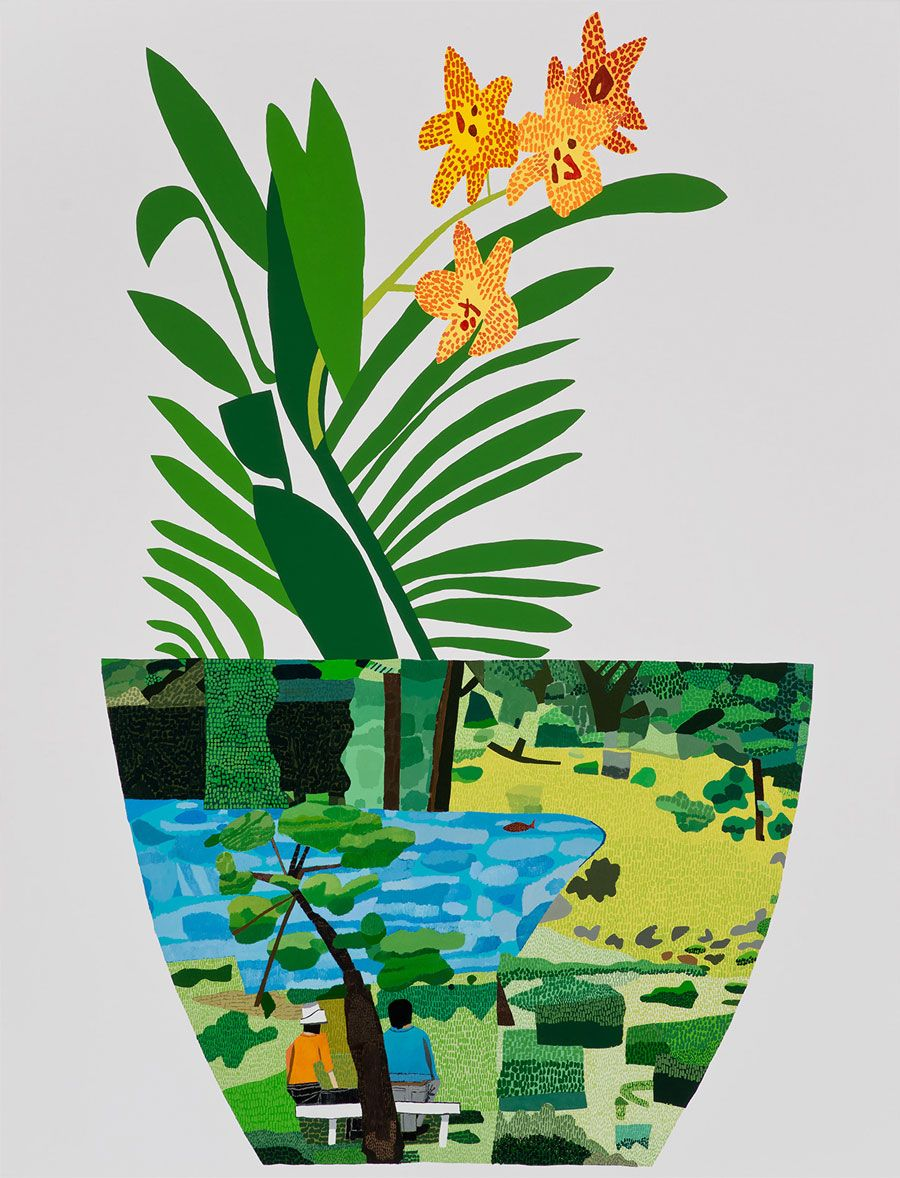 Jonas Wood Flowers & Plants Painting