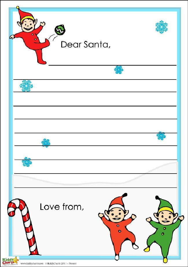 Free Santa Letter Notepaper  Free Santa Letters And Free