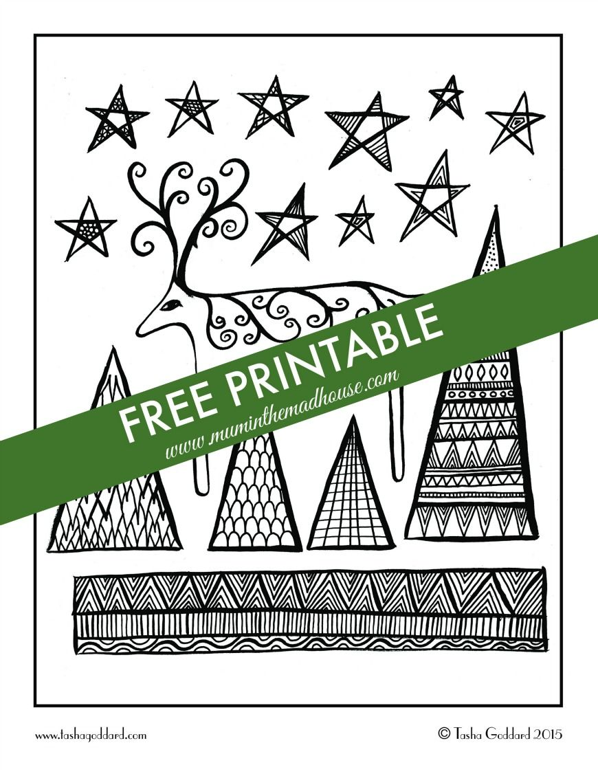 Free Christmas Colouring Pages for Adults and Teens | Pinterest ...