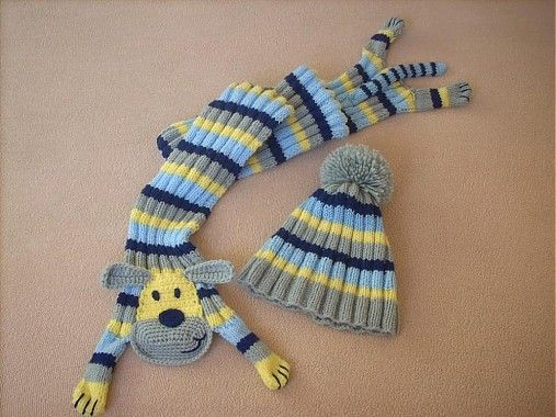 Havkový setík 2 by Monika.M - SAShE.sk - Handmade Súpravy- this is knit but cute idea